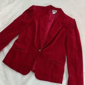 Insanely gorgeous vintage red velvet blazer